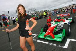 Grid girl of Joao Urbano, driver of A1 Team Portugal