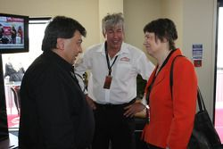 Tony Teixeira, A1GP Chairman with David Clare and Helen Clark, Prime Minister of New Zealand