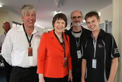 David Clare with Helen Clark, Prime Minister of New Zealand and Will Martin