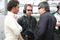 Adrian Zaugg, driver of A1 Team South Africa and Tony Teixeira, A1GP Chairman