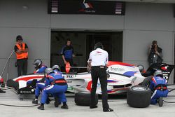 Loic Duval, driver of A1 Team France, pitstop