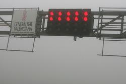 Track close because, fog