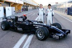 Williams F1 takım fotoğrafıshoot: Nico Rosberg, WilliamsF1 Team, FW30 ve Kazuki Nakajima, Williams F
