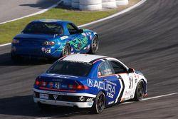 #146 Performance Autosport Mazda MX-5: Tom Long, Rhett O'Doski, #31 i-MOTO Racing Acura TSX: Glenn B