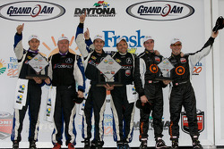 ST podium: class winners Glenn Bocchino and Nick Wittmer, second place Peter Cunningham and Kuno Wittmer, third place Karl Thomson and Travis Walker