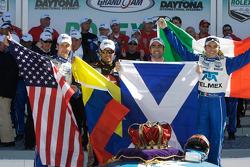 Victory lane: race winners Dario Franchitti, Juan Pablo Montoya, Scott Pruett, Memo Rojas celebrate
