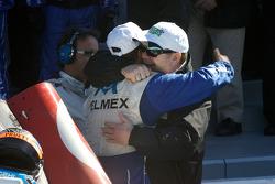 Victory lane: Scott Pruett and Chip Ganassi celebrate