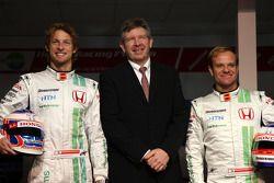 Jenson Button, Honda Racing F1 Team, Ross Brawn Team Principal, Honda Racing F1 Team, Rubens Barrich