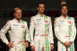 Rubens Barrichello, Honda Racing F1 Team, Alexander Wurz, Test Driver, Honda Racing F1 Team, Jenson