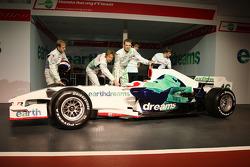 Rubens Barrichello, Honda Racing F1 Team, Jenson Button, Honda Racing F1 Team, Nick Fry, Honda Racing F1 Team, Alexander Wurz, Test Driver, Honda Racing F1 Team, Luca Filippi, Honda Racing F1 Team, Mike Conway, Test Driver, Honda Racing F1 Team