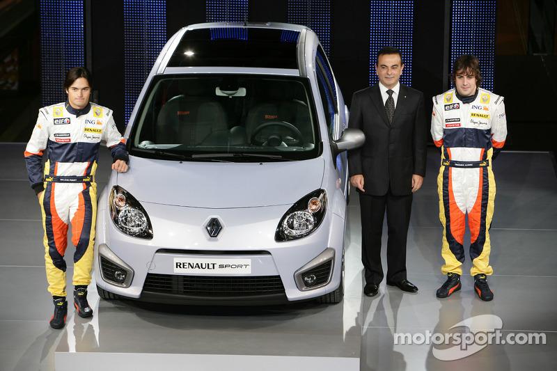 New Twingo RS, Launch venue, Fernando Alonso, Renault F1 Team, Nelson A. Piquet, Renault F1 Team