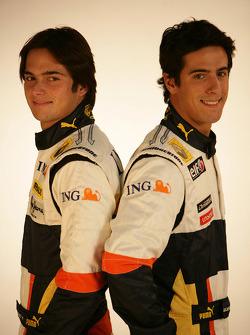 Nelson A. Piquet, Renault F1 Team, Lucas Di Grassi, Test Driver, Renault F1 Team