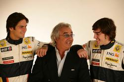 Fernando Alonso, Renault F1 Team, Flavio Briatore, Renault F1 Team, Nelson Piquet