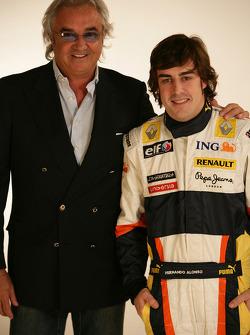 Flavio Briatore, Managing Director, Renault F1, Fernando Alonso, Renault F1 Team