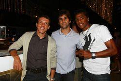 Juninho with Sergio Jimenez, driver of A1 Team Brazil and Patrick