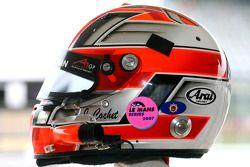Jonathan Cochet, driver of A1 Team France, helmet