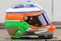 Niall Quinn, driver of A1 Team Ireland, helmet
