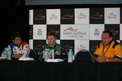 Loic Duval, driver of A1 Team France, John Martin, driver of A1 Team Australia and Alan Jones, Seat Holder of A1 Team Australia