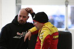 Todd Bodine and Germain Racing crew member
