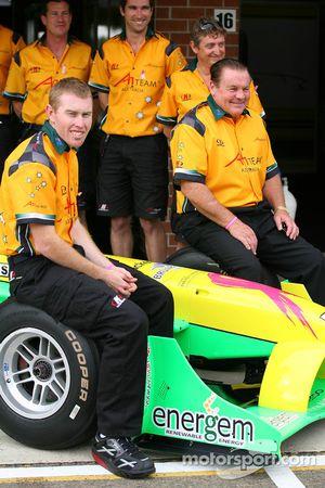 John Martin, driver of A1 Team Australia Alan Jones, Seat Holder of A1 Team Australia