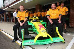 John Martin, driver of A1 Team Australia and Alan Jones, Seat Holder of A1 Team Australia