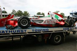 Chris Alajajian, driver of A1 Team Lebanon, crashed in qualifying