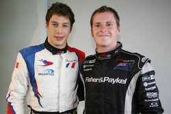 Loic Duval, driver of A1 Team France and Jonny Reid, driver of A1 Team New Zealand