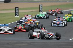 Start, Loic Duval, driver of A1 Team France leads Neel Jani, driver of A1 Team Switzerland
