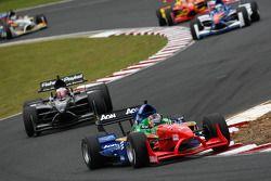 Adrian Zaugg, driver of A1 Team South Africa and Jonny Reid, driver of A1 Team New Zealand