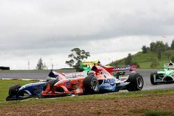 Jeroen Bleekemolen, driver of A1 Team Netherlands and Jonathan Summerton, driver of A1 Team USA