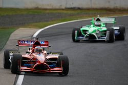 Jeroen Bleekemolen, driver of A1 Team Netherlands and Adam Carroll, driver of A1 Team Ireland