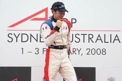 1st, Winner, Loic Duval, driver of A1 Team France