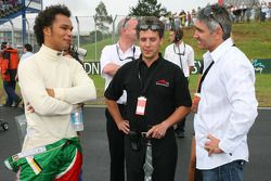 Adrian Zaugg, driver of A1 Team South Africa and Mick Doohan, World Champion Motorcycle rider