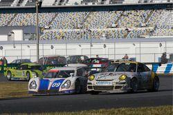 #09 Spirit of Daytona Racing Porsche Fabcar: Marc-Antoine Camirand, Guy Cosmo, Michael McDowell, #85 Farnbacher Loles Porsche GT3 Cup: Chris Bingham, Bill Cotter, Chris Pennington, Don Pickering