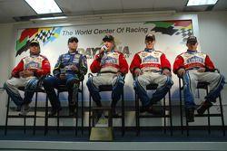 Post-race press conference: Jimmy Vasser, Jimmie Johnson, Bob Stallings, Jon Fogarty and Alex Gurney