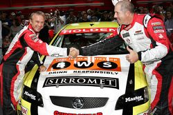 Russell Ingall and Paul Morris pose for the cameras