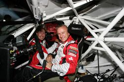 Russell Ingall tries out the car