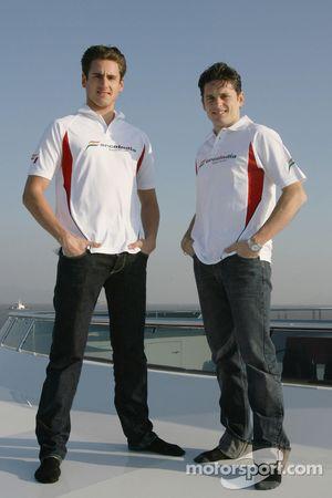 Adrian Sutil y Giancarlo Fisichella