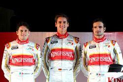 Giancarlo Fisichella, Adrian Sutil y Vitantonio Liuzzi