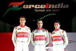Adrian Sutil, Giancarlo Fisichella und Vitantonio Liuzzi