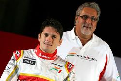 Giancarlo Fisichella and Vijay Mallya