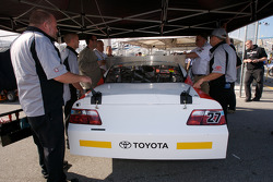 Bill Davis Racing Toyota at tech inspection