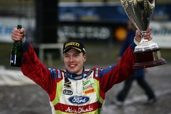 Podium: winner Jari-Matti Latvala celebrates
