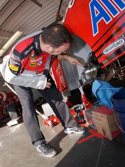 Budweiser Dodge crew member at work