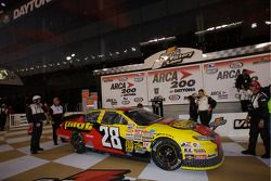 Victory lane: race winner Michael Annett