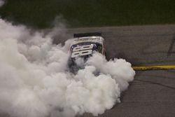 Race winner Dale Earnhardt Jr. celebrates