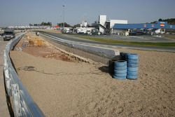 Work is Carried out to enlarge gravel trap, last corner