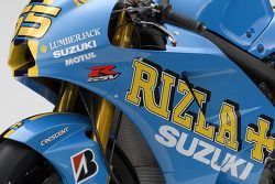 Detail of the 2008 Rizla Suzuki GSV-R of Loris Capirossi