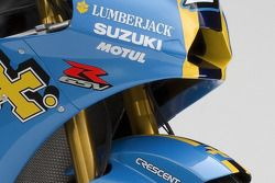 Detail of the 2008 Rizla Suzuki GSV-R of Chris Vermeulen