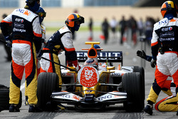 Nelson A. Piquet, Renault F1 Team, R27, pitstop practice
